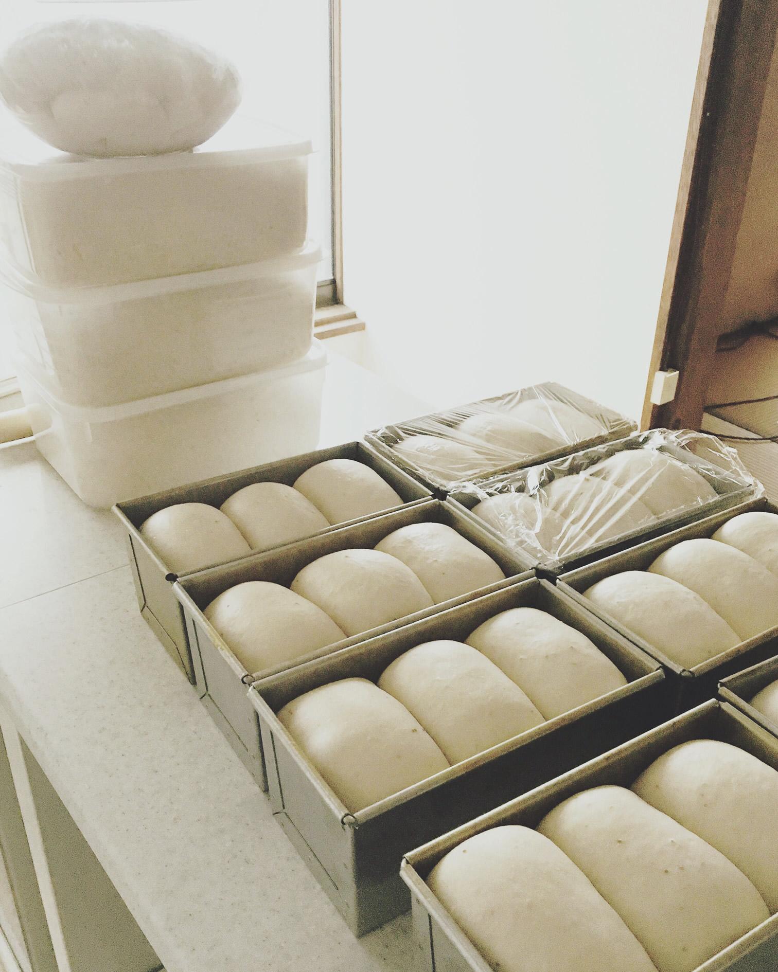 自家製いちご酵母食パン