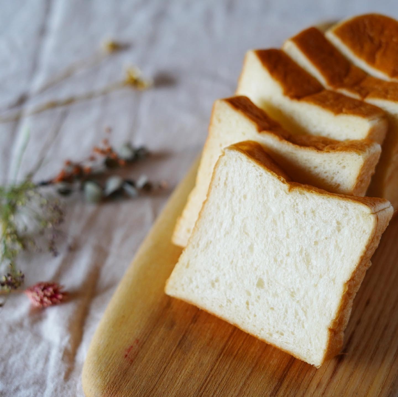 湯種食パンのスライス断面