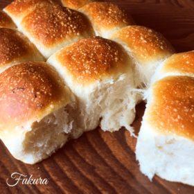 自家製いちご酵母のちぎりパン