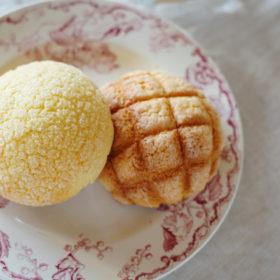 クッキーメロンパンとビスケットメロンパン