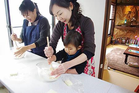 親子でパン作り♪